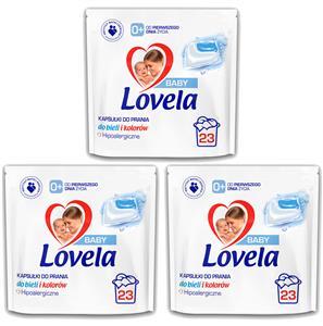 Lovela Baby Hipoalergiczne Kapsułki do Prania dla Dzieci 3 x 23= 69szt