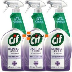 Cif Disinfect & Shine Flower Spray Antybakteryjny 3 x 750ml