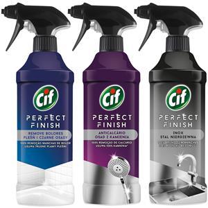 Cif Perfect Finish Pleśń Kamień Stal Spray 3 x 435ml