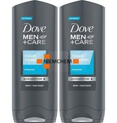Dove Men Care Clean Comfort Żel pod Prysznic 2 x 250ml