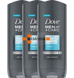 Dove Men Care Clean Comfort Żel pod Prysznic 3 x 400ml