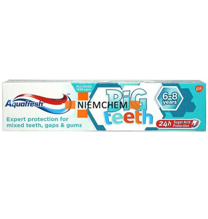 Aquafresh Big Teeth Pasta do Zębów dla Dzieci 6-8 Lat 50ml UK