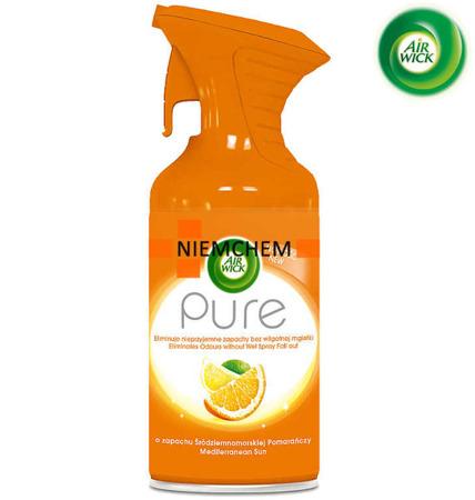 Air Wick Pure Śródziemnomorska Pomarańcza Odświeżacz Powietrza Spray 250ml