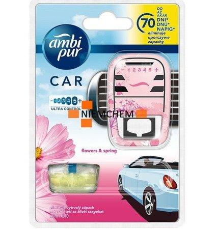 Ambi Pur Car Samochodowy Odświeżacz Flowers Spring - Zestaw