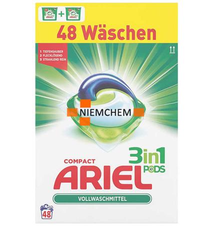 Ariel Universal BOX Kapsułki do Prania 3w1 48szt DE