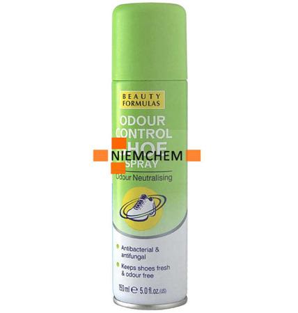Beauty Formulas Neutralizujący Spray do Butów Odświeżacz 150ml UK