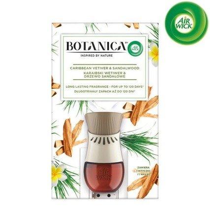 Botanica by Air Wick Electric Odświeżacz Powietrza Karaibski Wetiwer & Drzewo Sandałowe Komplet