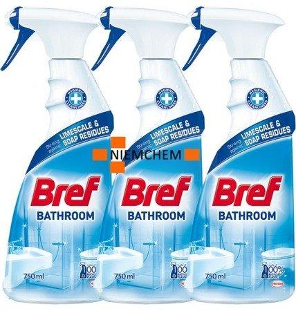 Bref Bathroom Spray do Czyszczenia Łazienki 3 x 750ml