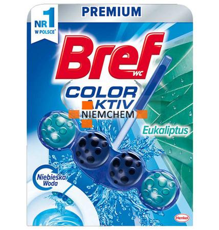 Bref Blue Eukaliptus Zawieszka do WC Kulki Barwiące Niebieska Woda PL