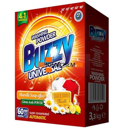 Buzzy Universal Proszek do Prania z Mydłem Marsylskim 60pr 3,3kg UK