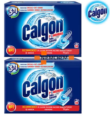 Calgon 3w1 Tabletki Odkamieniacz do Pralki 60szt