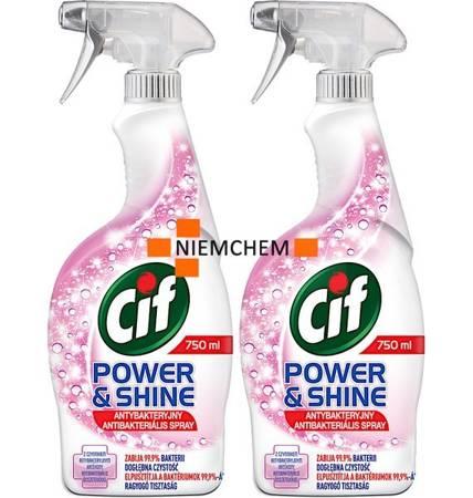 Cif Power&Shine Antybakteryjny Spray 2 x 750ml