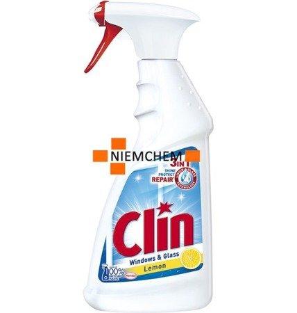 Clin 3in1 Lemon Cytrynowy Płyn do Mycia Szyb Okien 500ml WYPRZEDAŻ