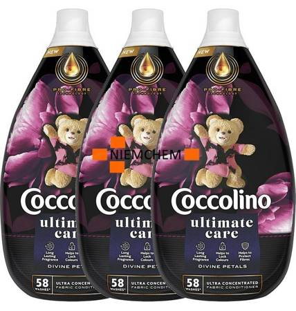 Coccolino Ultimate Care Divine Petals Płyn do Płukania 174pr 3 x 870ml.