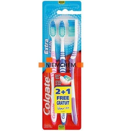 Colgate Extra Clean Medium Szczoteczka do Zębów 3szt UK