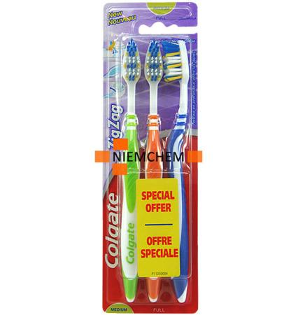 Colgate Zig Zag Medium Szczoteczka do Zębów 3szt UK