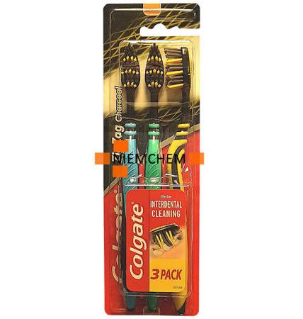 Colgate ZigZag Węgiel Drzewny Szczoteczka do Zębów 3szt UK