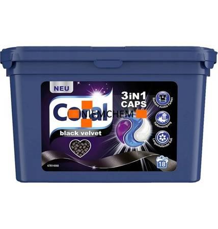 Coral 3in1 Black Velvet Kapsułki do Prania na 18pr DE