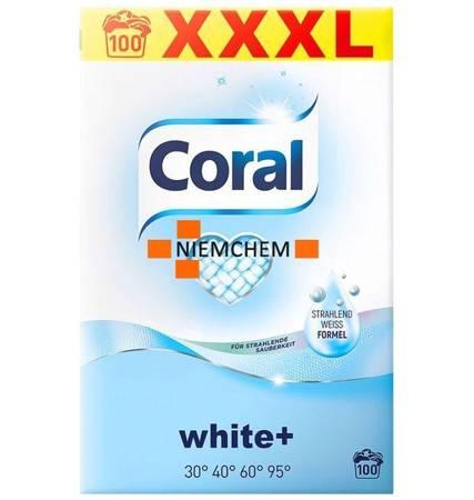 Coral White+ Proszek do Prania Białego 100pr 7kg DE
