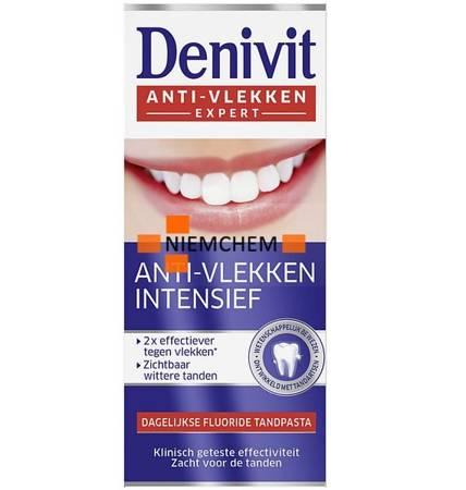 Denivit Anti-Vlekken Intensief Pasta Zębów Wybielająca 50ml FR