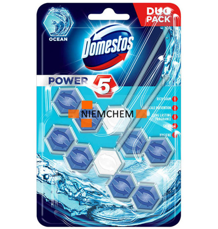 Domestos Duo Power 5 Ocean Zawieszka do WC 2szt