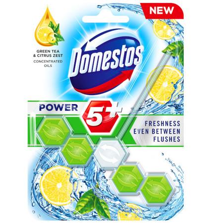 Domestos Power 5+ Green Tea Citrus Zawieszka WC 55g