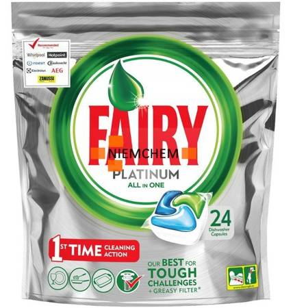 Fairy Platinum All-in-One Tabletki Zmywarki 24szt PT