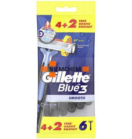 GIllette Blue 3 Maszynka Zestaw 6szt