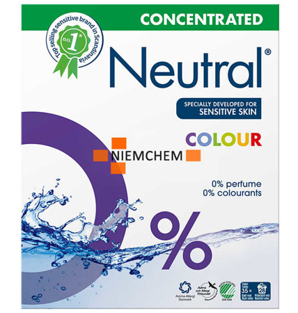 Neutral Color Proszek do Prania dla Dzieci Hipoalergiczny 28pr