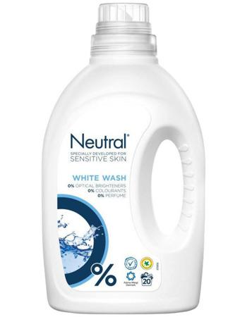 Neutral White Hipoalergiczny Żel do Prania Białego 20pr 1L