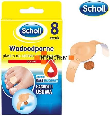 Scholl Wodoodporne Plastry na Odciski 8szt