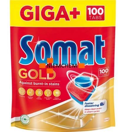 Somat Gold Tabletki do Zmywarki Giga+ 100szt