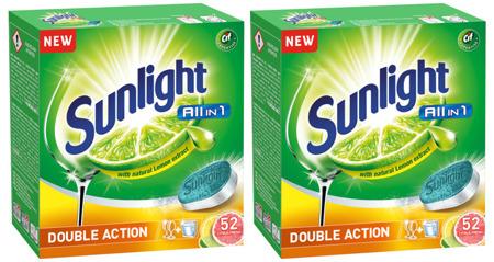 Sunlight All-in-1 Citrus Tabletki Zmywarki 2x52= 104szt