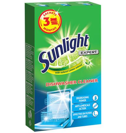 Sunlight Expert Czyścik do Zmywarki Saszetki 3x40g