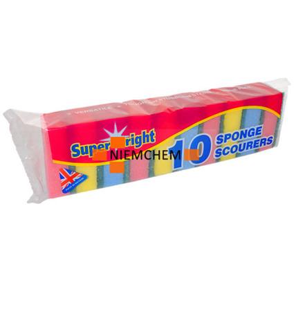 Super Bright Gąbki do Mycia Naczyń Zmywaki 10szt UK