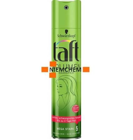 Taft Volumen 5 Objętość Mega Mocny Lakier do Włosów 250ml DE