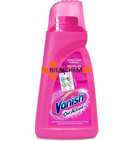 Vanish Oxi Action Pink Kolor Odplamiacz Płyn 1,5L PL