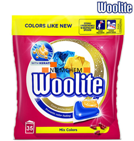 Woolite Mix Colors Kapsułki do Prania Kolor 35szt XL