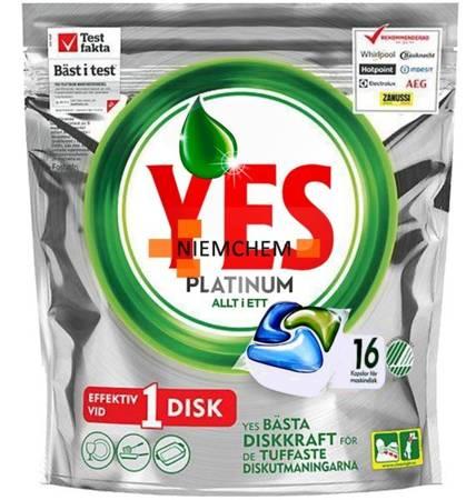 Yes Platinum Tabletki do Zmywarki 16szt NO